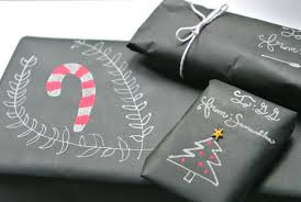chalk wrapping paper a girl in transit our christmas time has started