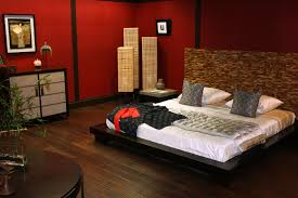 smart ideas of asian bedroom decor with large wooden bed also good
