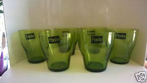 bicchieri verdi fade servizio 6 bicchieri vino vetro soffiato verdi verde conico