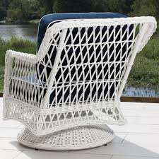 Wicker Swivel Patio Chair Everglades White Resin Wicker Patio Swivel Club Chair By Lakeview