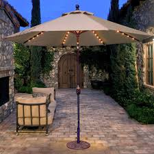 Galtech Replacement Canopy by Galtech 9 Ft Lighted Octagonal Hardwood Patio Market Umbrella W