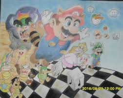 Super Mario Home Decor Super Mario Brothers Etsy
