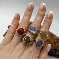 urban hand ring holder images Urban outfitters jewelry nwt bundle 5 gemstone silver opalite jpg