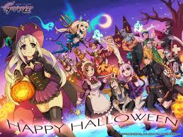 gengar 1920x1080 halloween background azure striker gunvolt official web site