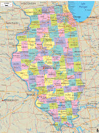 Virginia Map With Cities Map Of Illinois With Good Outlines Of Cities Towns And Road Map