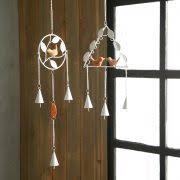 natural pleasant iron bird wind chimes for home garden balcony