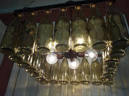 Wine Glass Chandelier Diy Wine Bottle Chandelier Creative Upcycling Ideas For Lighting Fixtures