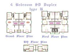 stunning design 5 4 bedroom duplex floor plans house homeca