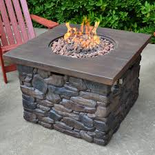 large propane fire pit table propane fire pit yosemite stone propane fire pit table wayfair