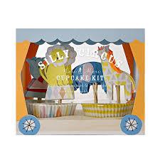 first birthday circus circus themed cupcake kit baby shower or first birthday by little