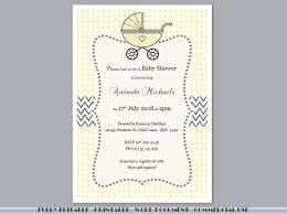 Gift Card Shower Invitation Fully Editable Printable Yellow Gingham Baby Shower Invitation