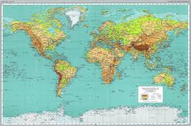 Maps On Us World Physical Political Map Appeared In 1970 In Maps On The Web