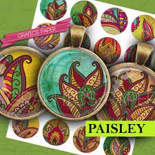paisley images flower indian circles hindu ornaments digital