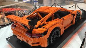 lego porsche 911 gt3 rs full size lego porsche gt3 rs on display in stockholm autotrader ca