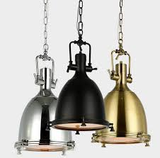 Chrome Pendant Lighting Vintage L American Style E27 Copper Chrome Black Pendant Ls