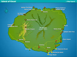 Island Beach State Park Map by Kauai Map Beaches Golf Courses Resort Vacation Rentals Suite
