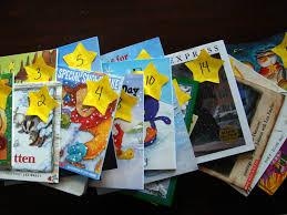 christmas book advent reading confetti snowflakes pinterest