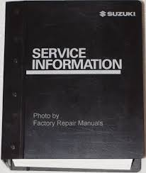 suzuki service manuals original shop books factory repair manuals