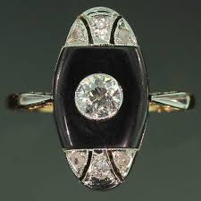 the antique jewelry information center art deco ring so tempting