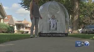 halloween city mchenry il boy with cerebral palsy dressing up as lincoln memorial snow globe