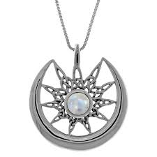 sterling silver celtic sun and crescent moon pendant free