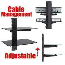 Metal Adjustable Shelving Wall Shelves Design Sophisticated Tv Wall Mount With 2 Shelves