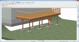 how to edit deck posts and footings in home designer pro 2016