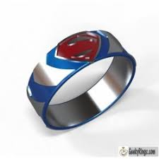 superman wedding band geeky wedding bands 2 geeky rings custom geeky engagement rings