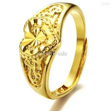 wedding gold rings 2018 hot sale plating 18k yellow gold rings adjustable wedding