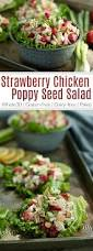 strawberry chicken poppy seed salad the real food dietitians