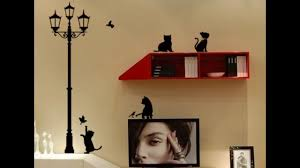 Wall Stickers Cats Main Street Wall Stickers With Lamp Cats And Birds Youtube