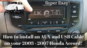2003 2007 honda accord factory aux usb install youtube