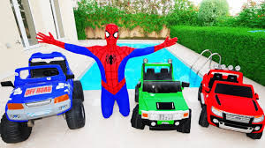 learn colors w spiderman for children u0026 toddlers w joker hulk