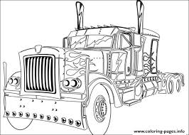 Transformers Truck Coloring Pages Printable Transformer Color Page