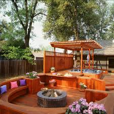Fire Pit Ideas Pinterest by Magnificent Deck Designs For Every Taste Bench Seat Fire Pits