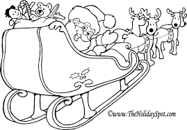 christmas pictures to color for kids