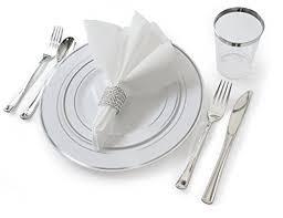 plastic silverware occasions set wedding disposable plastic plates plastic