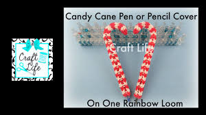 craft life candy cane pen or pencil cover grip topper tutorial for