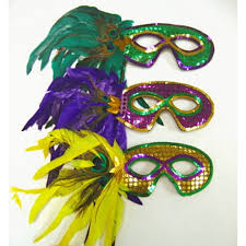 mardi gras feather masks party supplies at amols party supplies