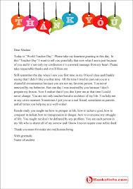 sample thank you letter to teacher from student bankofinfo com