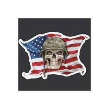 Us Flag Decal Sticker Skull Us Flag Decal Motorcycle Amt Custom Shop