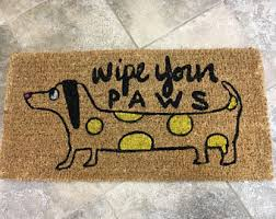 Wipe Your Paws Dog Doormat Wipe Your Paws Etsy