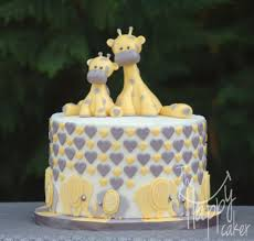 elephants and giraffes yellow and gray scheme elephant and