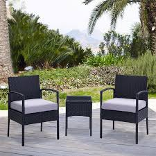 4 pcs complete compact outdoor indoor rattan wicker coffee table