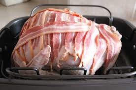 bacon wrapped roast turkey a pretty in the suburbs