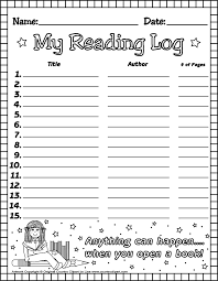 free printable reading logs for teachers and parents for students