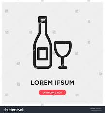 wine vector wine vector icon alcohol drink symbol stock vector 563024872