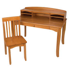 Childrens Desks With Hutch kidkraft avalon desk set with hutch and chair white walmart com