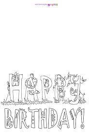 coloring pages free birthday card printouts coloring pages