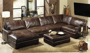 Martino Leather Sectional Sofa Leather Sectional Sofa Apartment Size Centerfieldbar Com